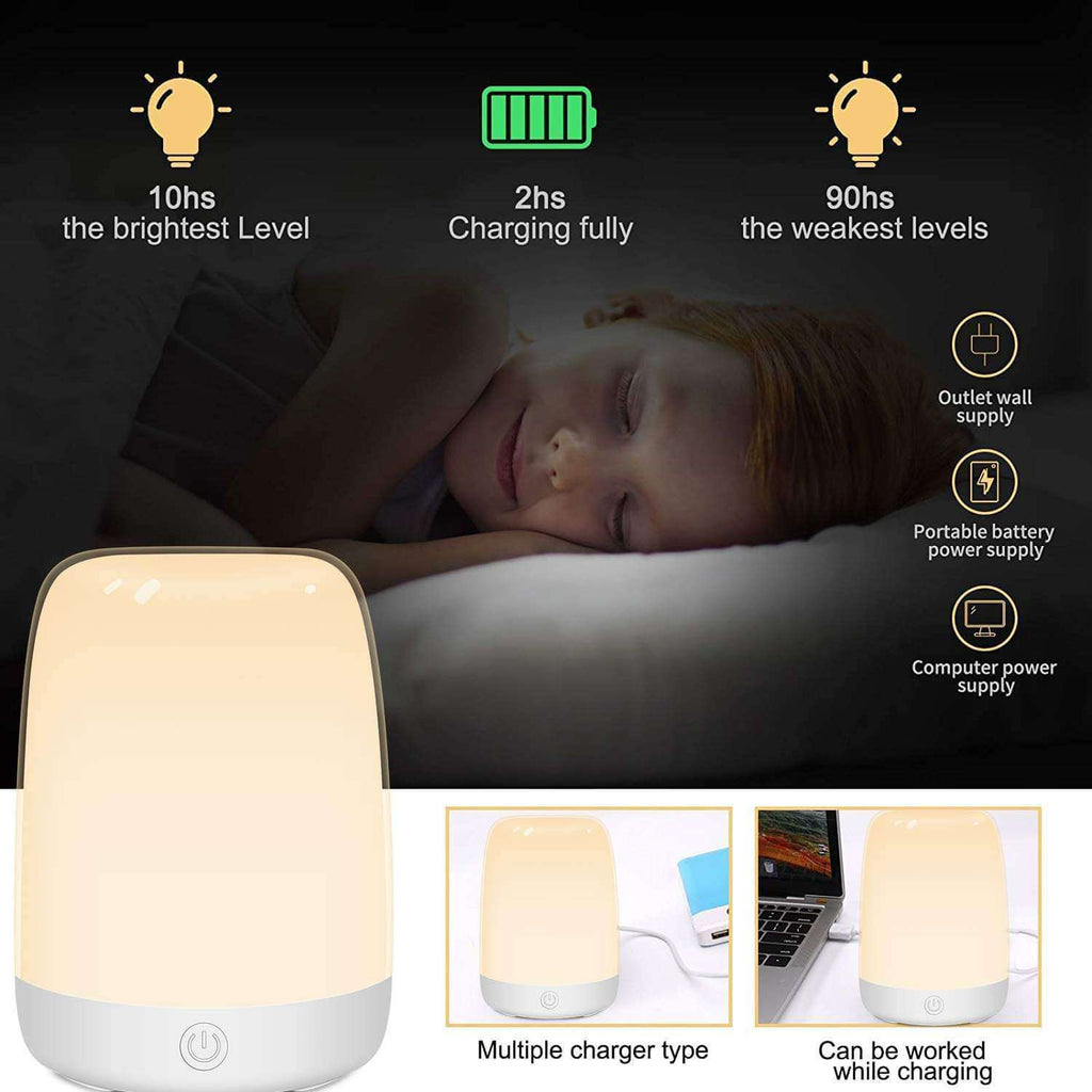 Table Lamp Touch Sensor Bedside Lamp with Color Changing RGB Night Light Rechargeable Night Lamp - Elecstars Capturing Stars in the Dream