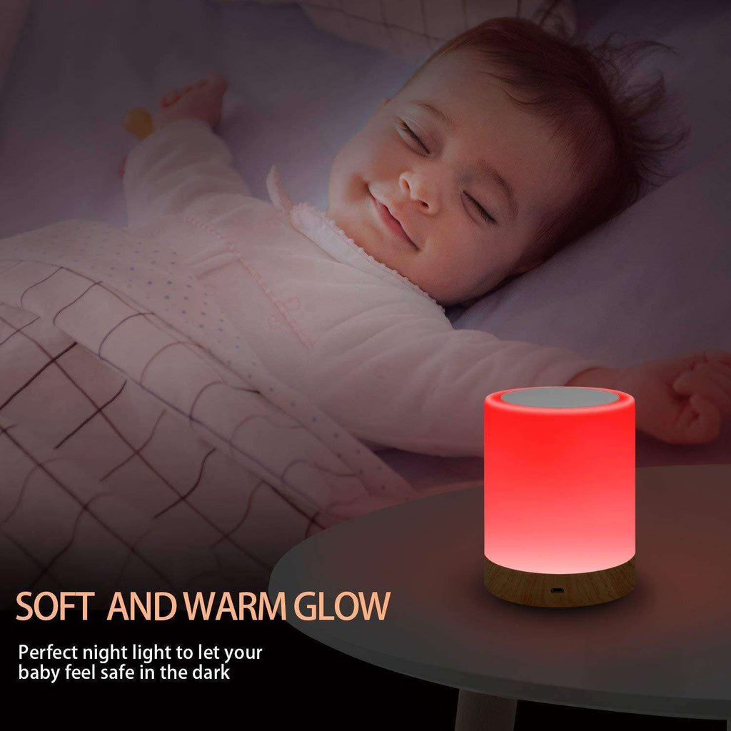 Touch Bedside Table Lamps Dimmable Color Changing for Bedroom Sleep Aid for Baby Perfect Gift - Elecstars Capturing Stars in the Dream