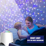 Elecstars Bluetooth Night Light Speaker, Star Projector with Built in Soft Music, Remote Control & Auto Off Timer, Colorful Bedside Lamp, Ideal Gift Choice for Party/Kids/Room