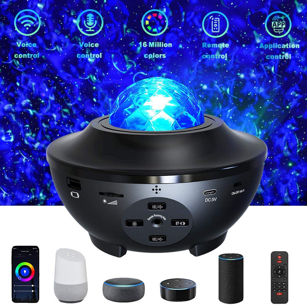Smart Galaxy Projector, WiFi Night Light Star Projector Galaxy Nebula Cloud Works with Alexa Google Home