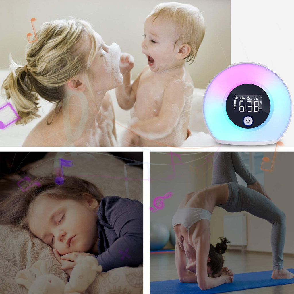Elecstars Alarm Clock Dimmable Night Light with Bluetooth Speaker Bedside Lamp Music Player Best Gift for Kids and Friends - Elecstars Capturing Stars in the Dream