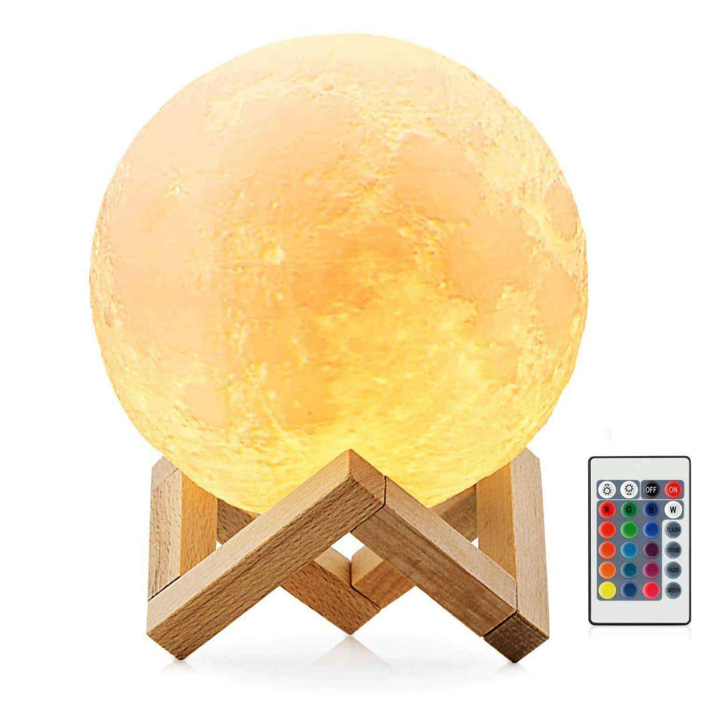 Moon Night Light 3D Printing LED 16 Colors Give Her a Moon Gift Precious Little Sleep Aid for Kids - Elecstars.com