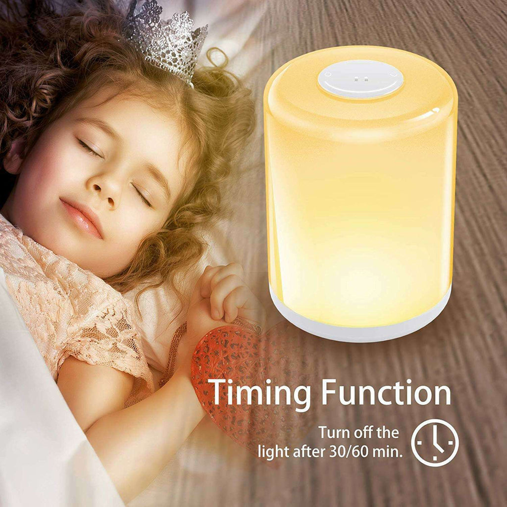Touch Control Table Lamp Dimmable Warm White Night Light - RGB Color Changing Lighting & Memory Function Bedside Light - Elecstars Capturing Stars in the Dream