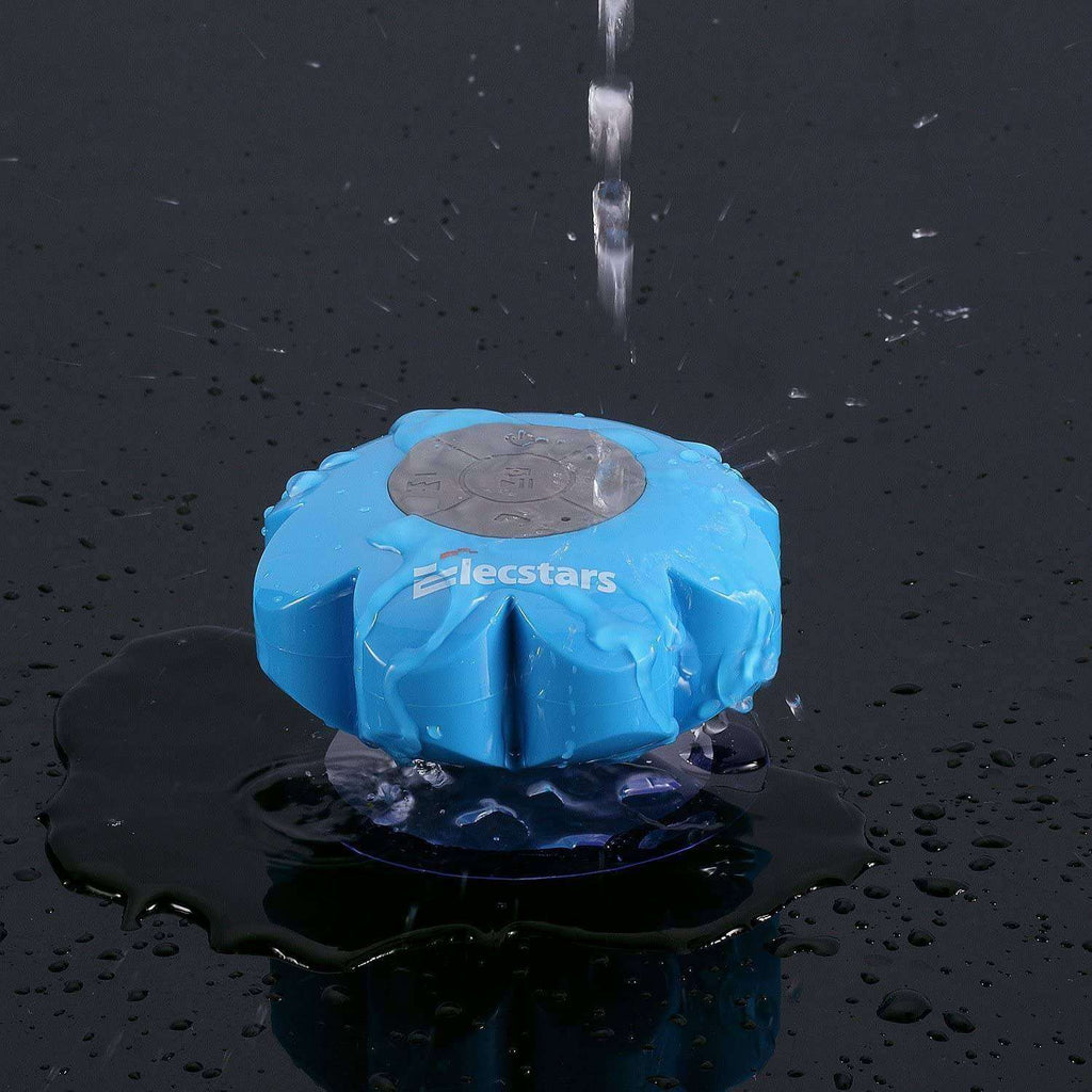 Shower Speaker Elecstars Water Resistant Bluetooth Waterproof Speaker with Wireless Handsfree Portable Speakerphone Strong Suction Cup -