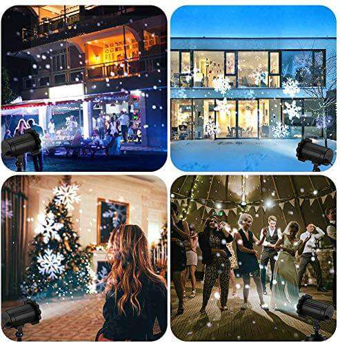 Snowfall LED Lights Projector Snowstorm Effect for Holiday Outdoor Laser Decoration - Elecstars.com