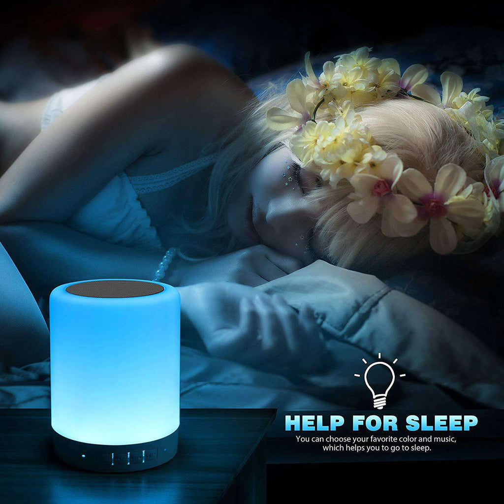 Touch Table Lamps Bedroom Bluetooth Speakerphone multiple colour with Kids Sleep Music Aid - Elecstars Capturing Stars in the Dream