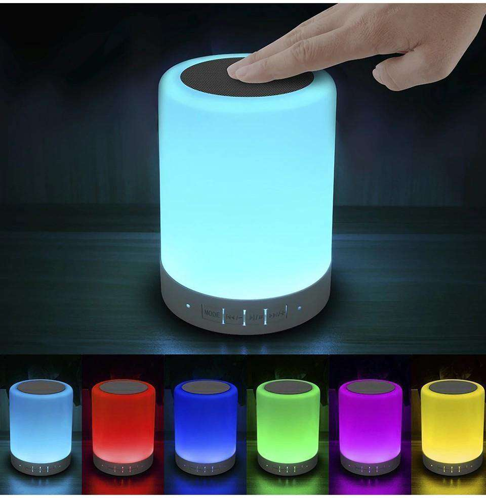 Touch Lamps Bluetooth Speakerphone with Smart Music Player Dimmable Nighttime Sleep Aid - Elecstars.com