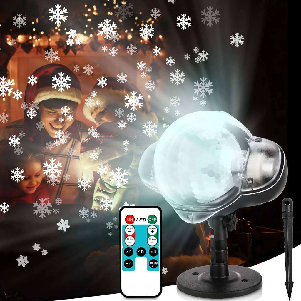 Snowflake House Projector Light LED Mettor with Remote Control Thanksgiving Outdoor Decorating - Elecstars Capturing Stars in the Dream