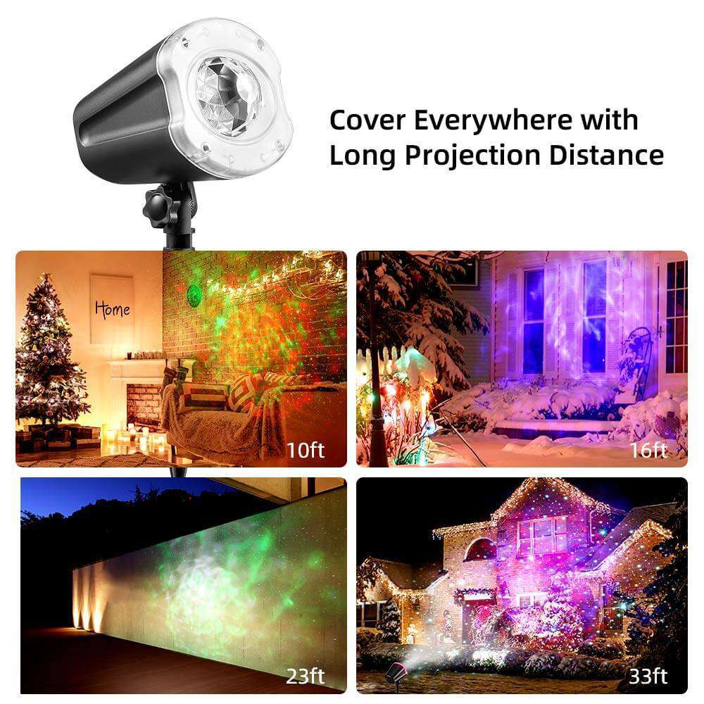 Star Shower Laser Magic Motion Light Projector Outdoor Landscape for Christmas Party Holiday Lighting - Elecstars.com