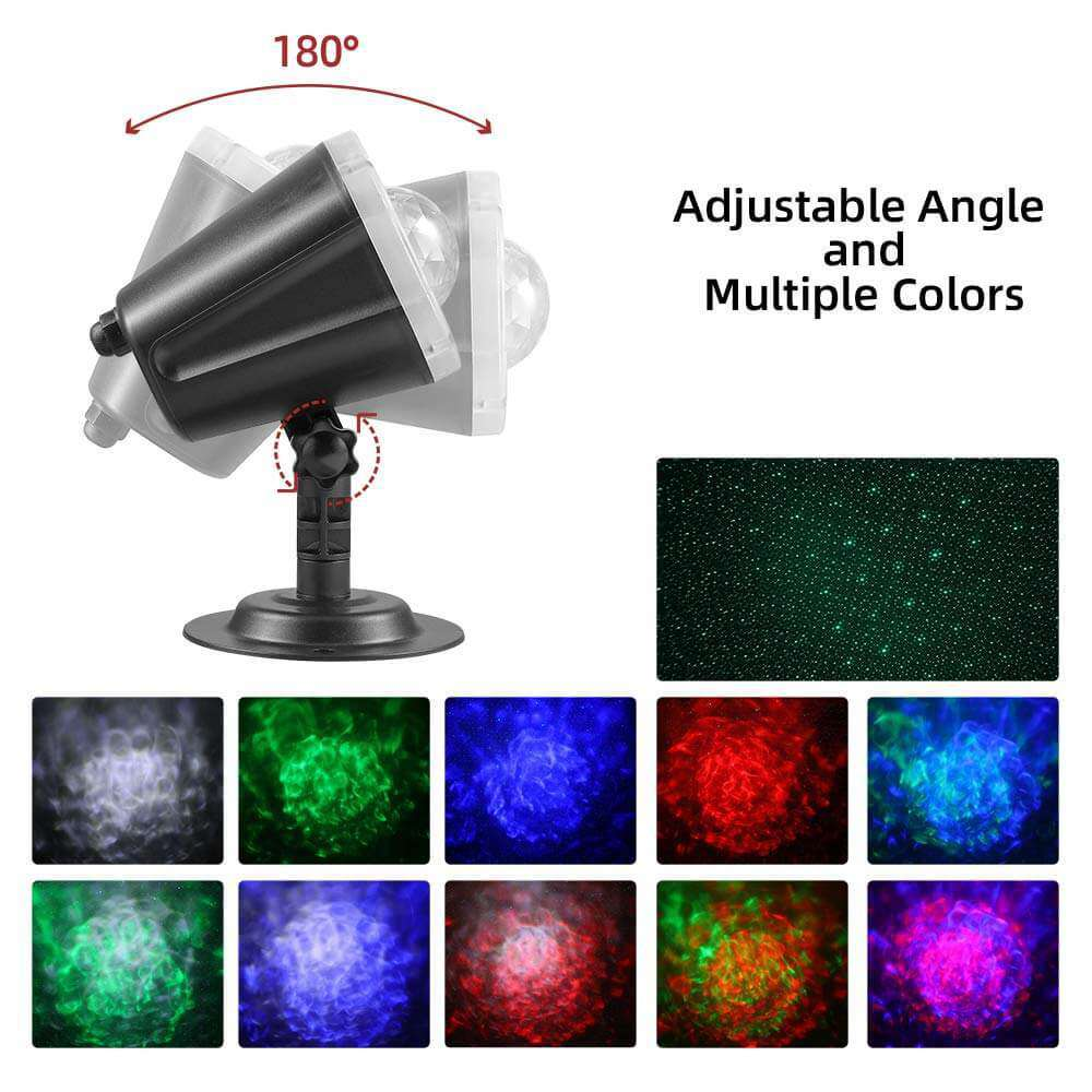 Star Shower Laser Magic Motion Light Projector Outdoor Landscape for Christmas Party Holiday Lighting - Elecstars Capturing Stars in the Dream