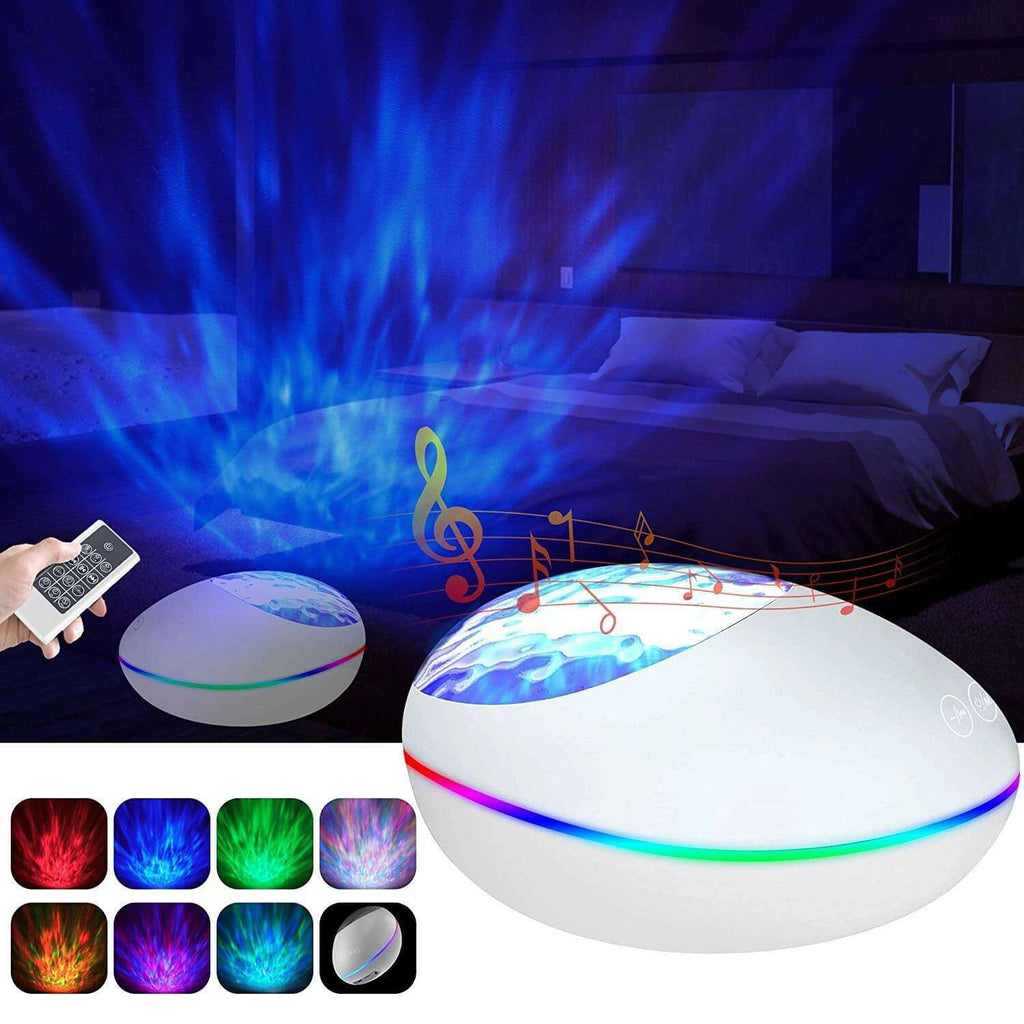 Ocean Wave Projector Bluetooth Music Speaker Voice Control for Bedroom Toddler Nighttime Sleep Aids - Elecstars.com