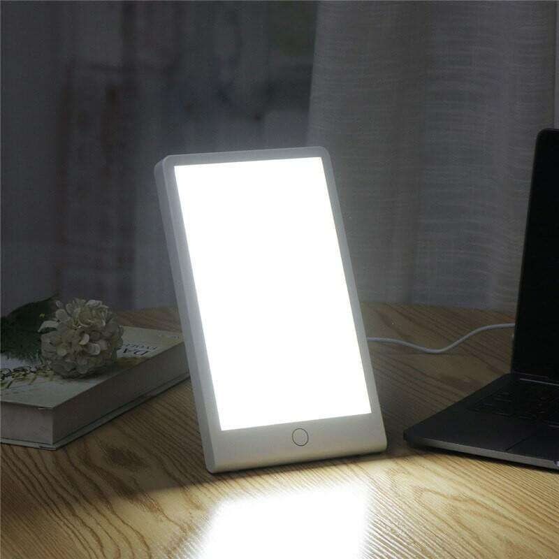 Therapy Energy Lamp 10000 Lux Eye protection Health Light Daylight Portable Light with Adjustable Base Natural Sun Lamp - Elecstars.com