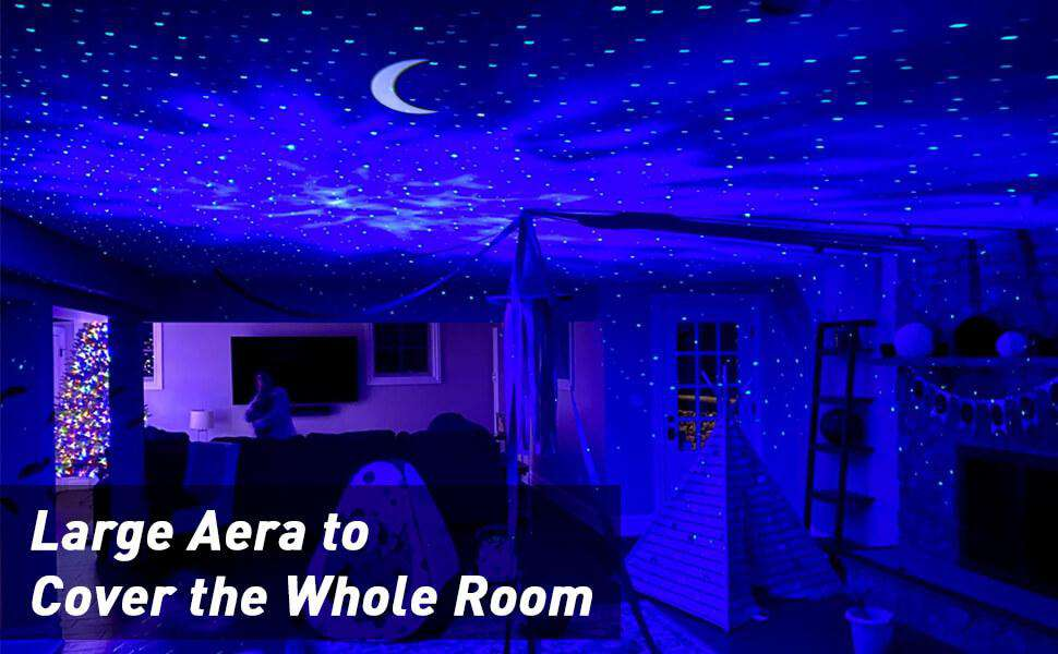 Star Night Light Projector, 3 in 1 Moon Star Water Pattern LED Laser Projector Light With 6 Lighting Show - Elecstars Capturing Stars in the Dream