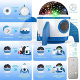 2020 Toddler Night Light Star Projector Blue for Bedroom with Timer Remote and Chargeable - Elecstars Capturing Stars in the Dream