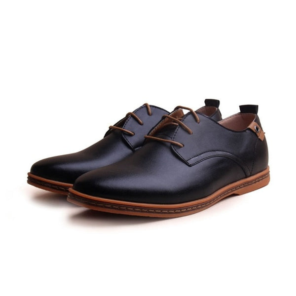 Round Toe Leather Dress Shoes