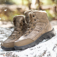 BROWN GENUINE WINTER LEATHER BOOTS