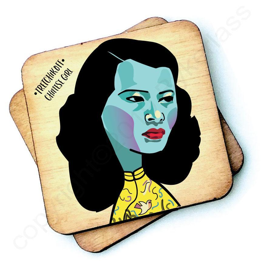 Tretchikoff Chinese Girl Wooden Coaster