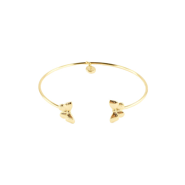 Gold Butterfly Brass Bangle