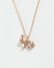 Rose gold rabbit short necklace