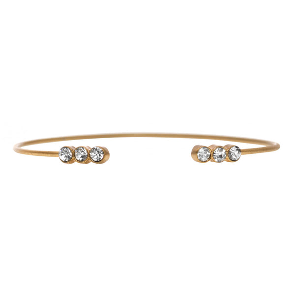 Danish brushed gold simple bracelet