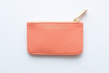 Women on a mission card purse