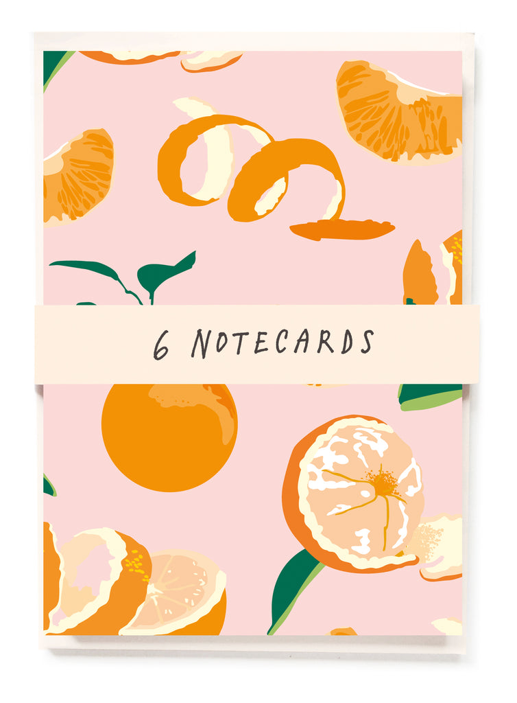 Oranges NOTECARDS pack of 6