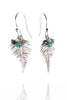 Amanda Coleman Handmade Fern Drop Earrings silver