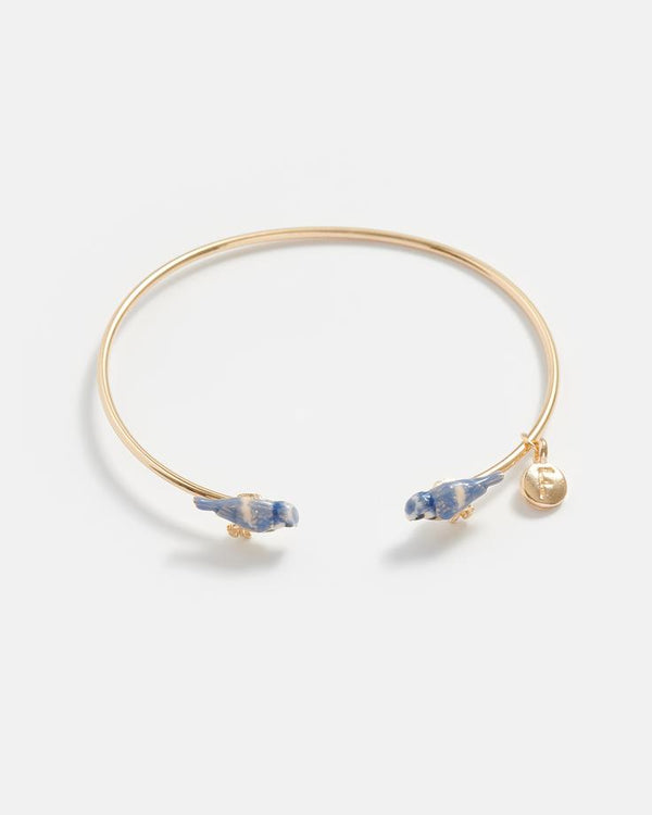 Blue tit enamel Bangle