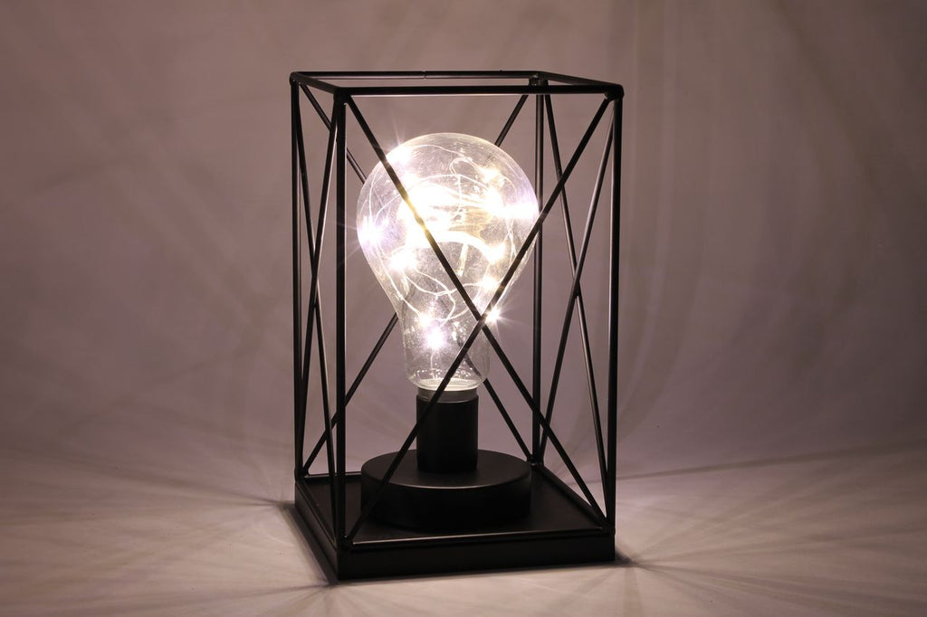 LED black wire lamp