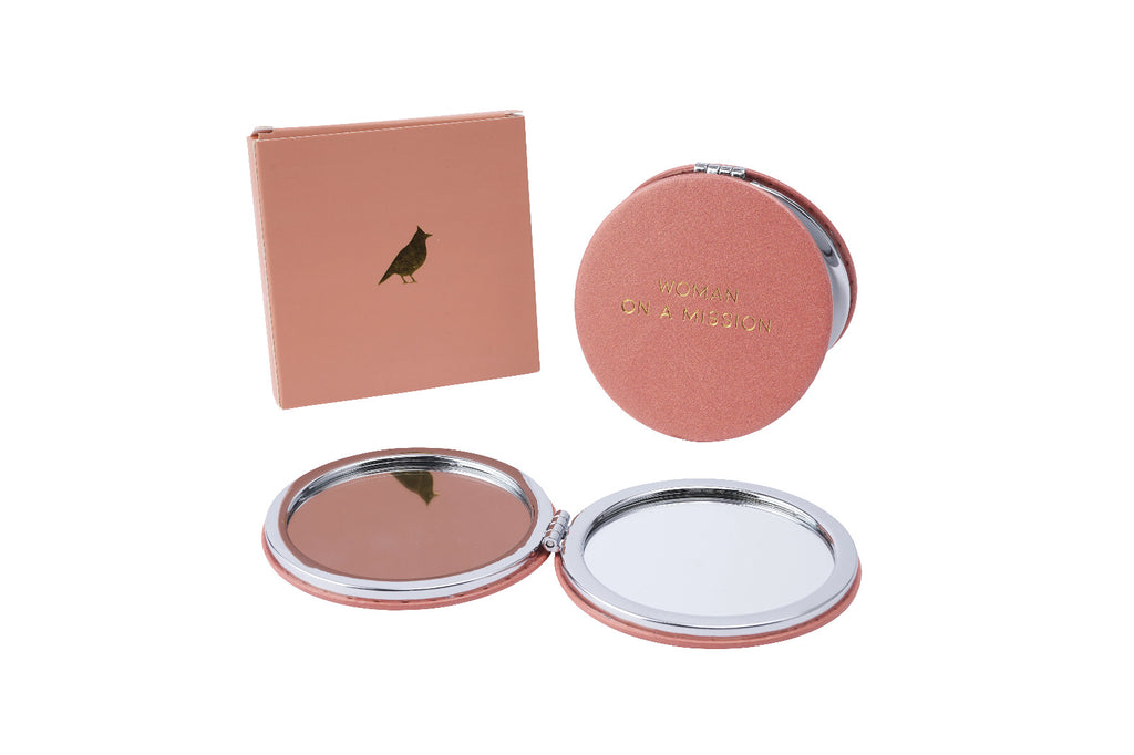 Women on a mission compact mirror