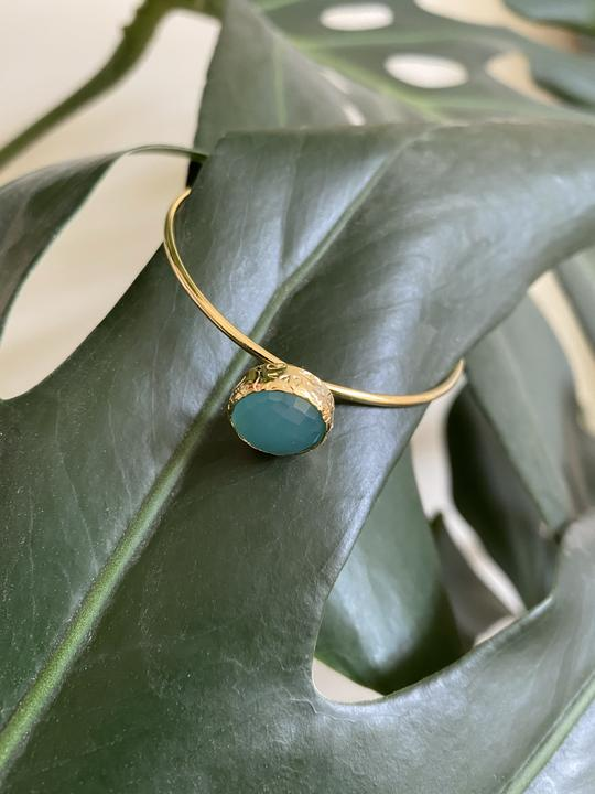My doris Stacking Bangle in Aqua