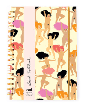 Nudie girls hard cover gold wiro notebook