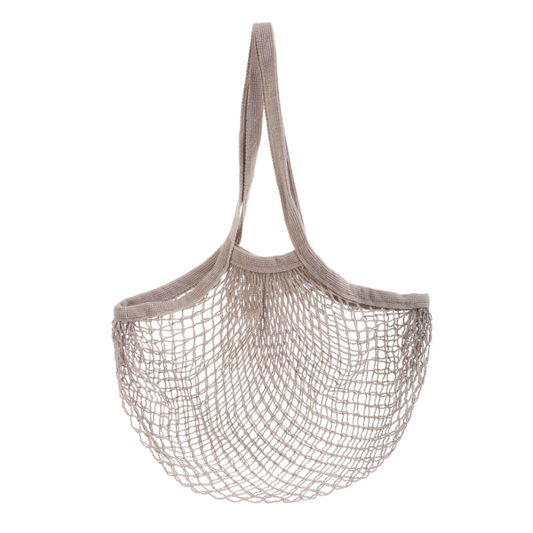 GREY STRING SHOPPER BAG