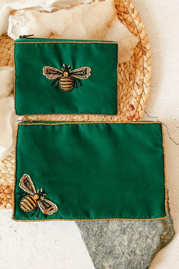 My Doris EMERALD BEE PURSE LARGE
