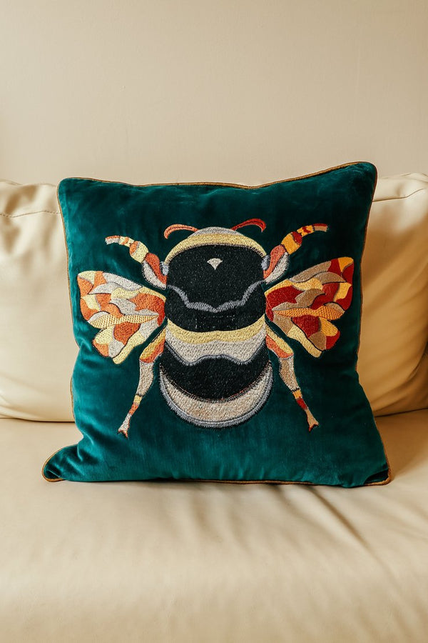 My Doris BEE TEAL CUSHION