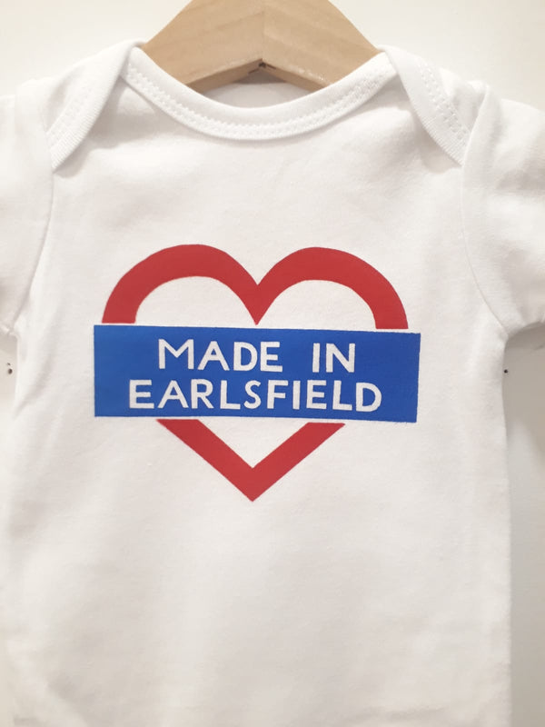 'Made in Earlsfield' Babygrow 0-3 Months