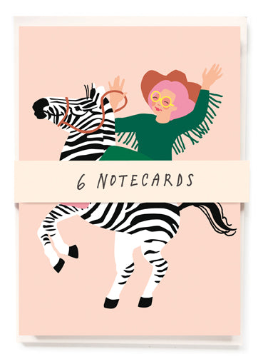 Zebra girl set of 6 cards