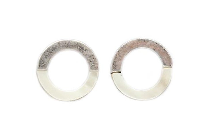 Open circle Mother of pearl studs