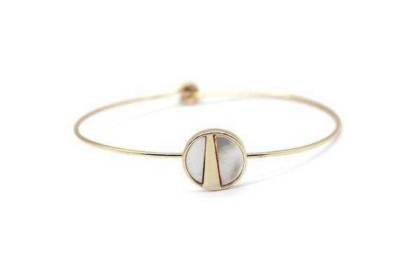 Lark Wire Bracelet - Mother of Pearl (Gold)