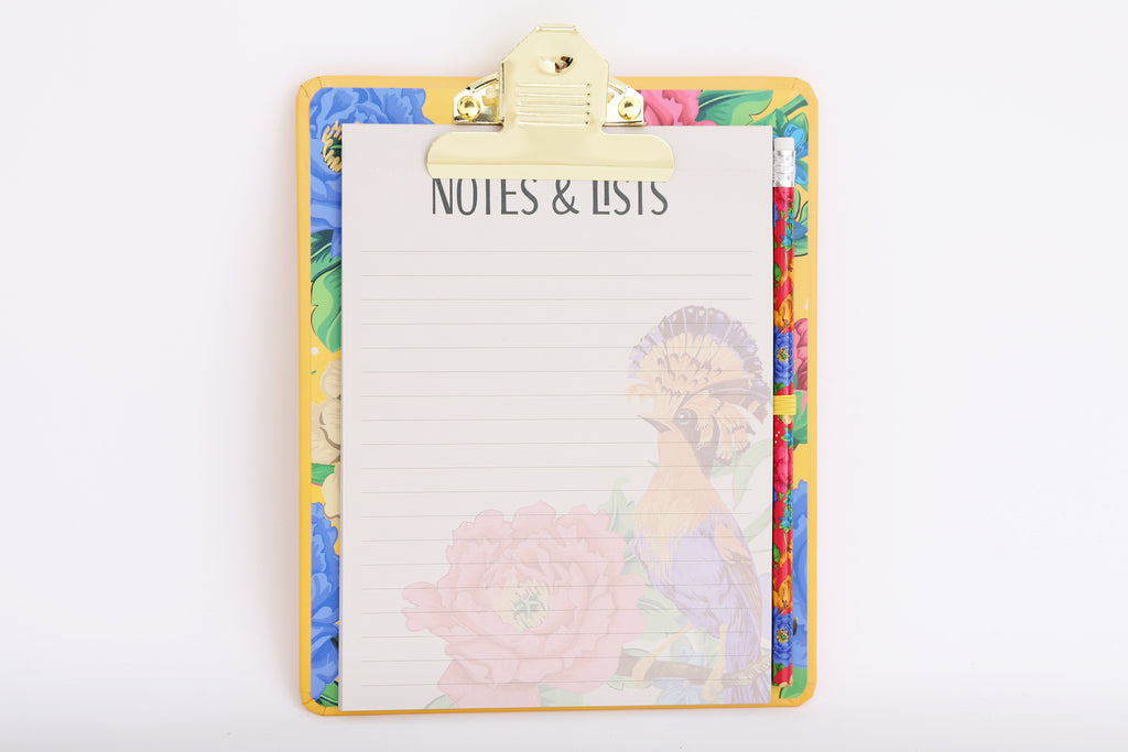 Mexican Floral Clipboard Pad Pencil