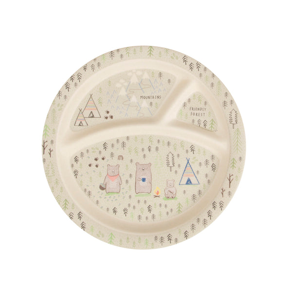 Bear Camp Bamboo Plate