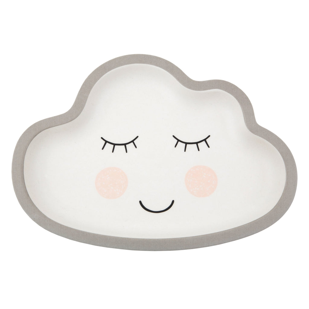 Cloud bamboo plate