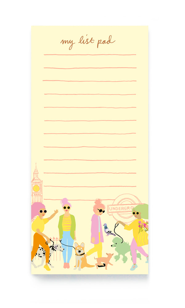 DESTINATION DOG WALKERS MAGNETIC LIST PAD