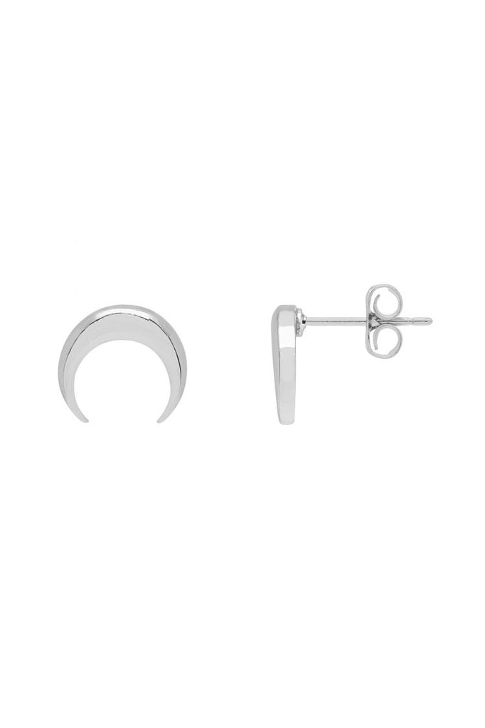 Estella Bartlett Curved Horn Earrings - Silver