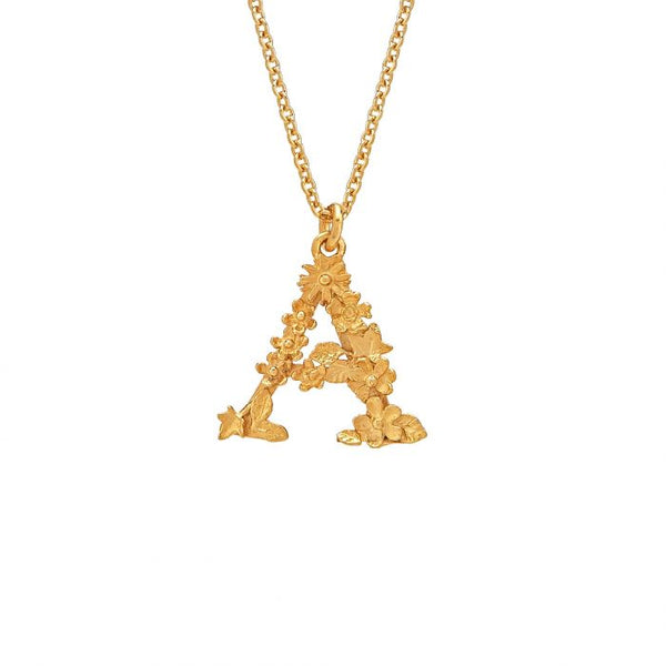 Alex Monroe Floral Letter Necklace
