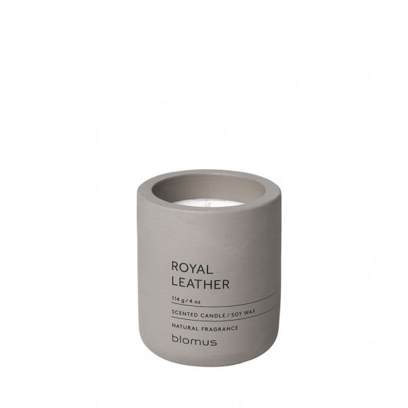 Blomus royal leather small candle