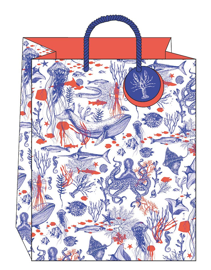Medium Sea life gift bag