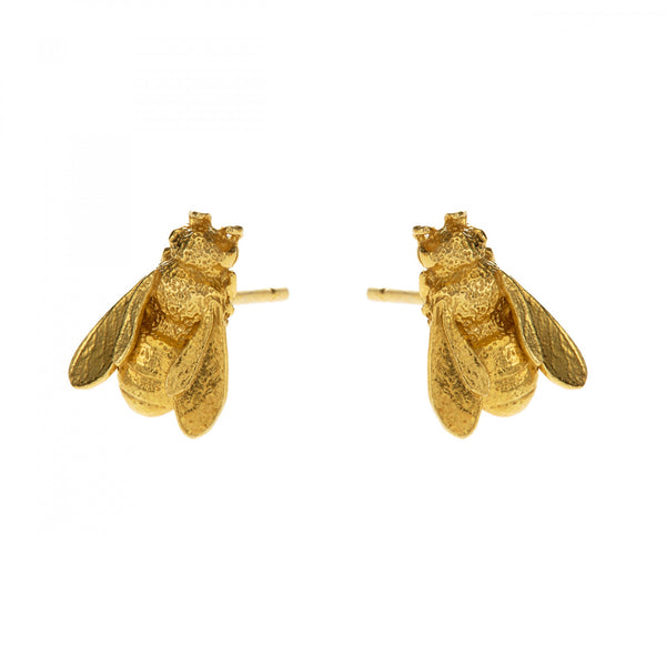 Alex Monroe Honeybee Stud Earrings - Gold