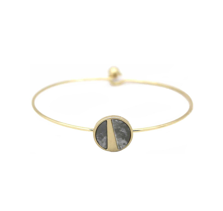 Grey marble speckled bracelet