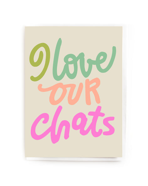I love our chats mini card